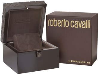 Roberto Cavalli By Franck Muller 36mm Yellow Golden Diamond Bezel Watch