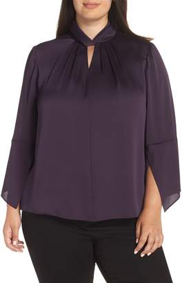 Vince Camuto Twist Neck Blouse