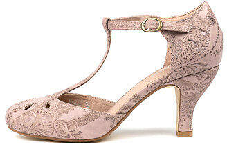 I Love Billy New Marie Blush Lace Womens Shoes Dress Shoes Heeled