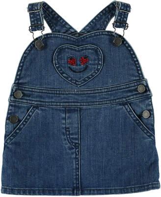 Stella McCartney Denim Jumper w/ Ladybug Pocket, Size 12-36 Months