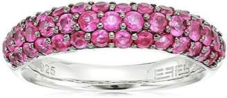 Effy Womens 925 Sterling Silver Ruby Ring