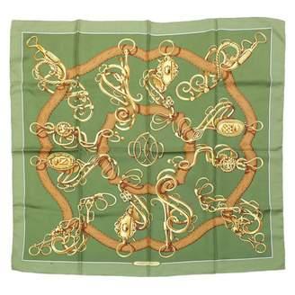 Hermes Carre 90 Khaki Silk Silk handkerchief