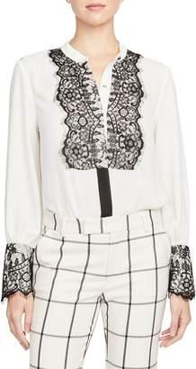 Rachel Roy Collection Lace Detail Georgette Blouse