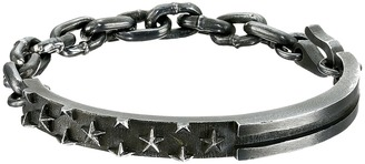 King Baby Studio - Flag ID Bracelet with Chain and Hook  Bracelet $725 thestylecure.com