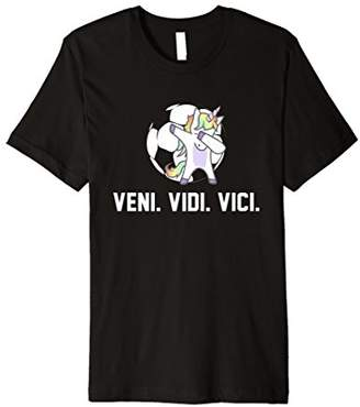 Soccer Dabbing Unicorn Shirt Veni Vidi Vici Team Gift