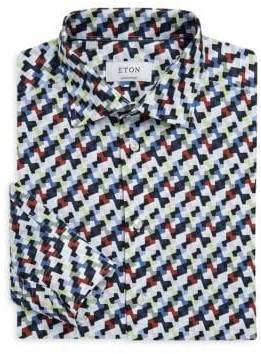 Eton Contemporary Fit Camo Dress Shirt