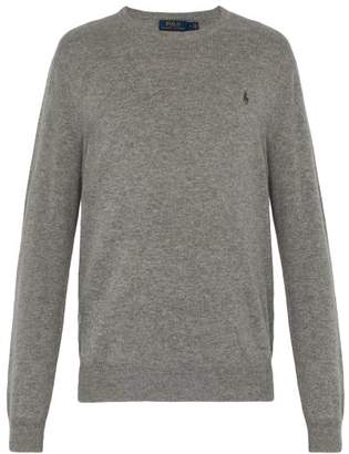 Polo Ralph Lauren Logo Embroidered Cashmere Sweater - Mens - Grey