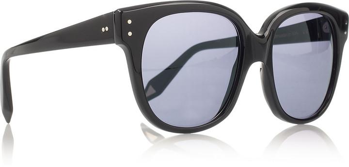 Victoria Beckham Audrey oversized-frame acetate sunglasses