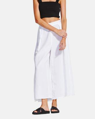 Seafolly Sea Stripe Linen Blend Split Pant