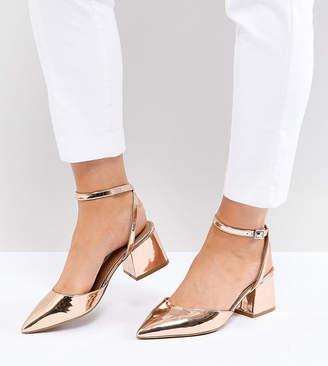 Asos Design SCARLETTE Wide Fit Mid Heels