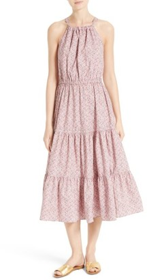 Women's La Vie Rebecca Taylor Meadow Floral Tie Back Tiered Sundress $295 thestylecure.com