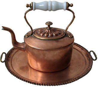 One Kings Lane Vintage Chinese Copper Kettle & Tray - CW House Eclectic