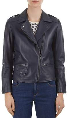 Gerard Darel Valeria Leather Moto Jacket