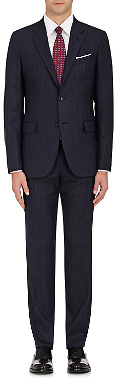 Barneys New YorkBarneys New York BARNEYS NEW YORK MEN'S PINSTRIPED WOOL TWO-BUTTON SUIT