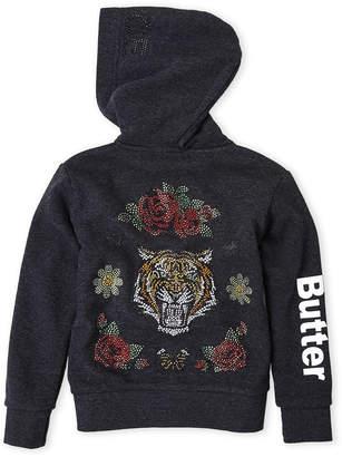 Butter Shoes Girls 4-6x) Tiger Fleece Hoodie