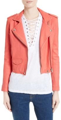 Women's Iro 'Ashville' Lambskin Leather Moto Jacket $1,201 thestylecure.com