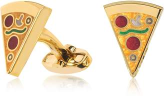 Paul Smith Pizza Slice Golden Cufflinks