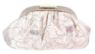 Judith Leiber Embellished Satin Clutch