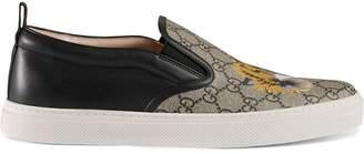 Gucci GG Supreme tiger slip-on sneaker