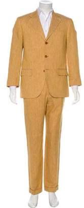 Bijan Striped Linen Suit