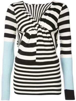 Tome striped colour-block sweater