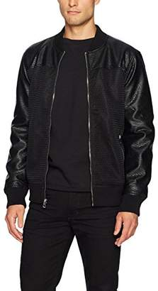 GUESS Men's Shade Bonded Mesh Bomber Jacket