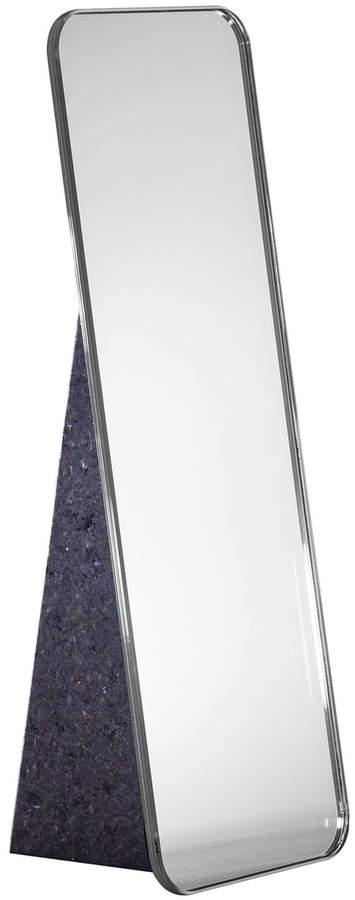 Pulpo - Olivia Tischspiegel H 38 cm, Silber / Standfuß schwarz