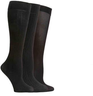 Nine West Textured Trouser Crew Socks - 3 Pack - Women's