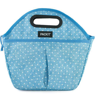 Pack It Traveler Chambray Freezable Lunch Bag