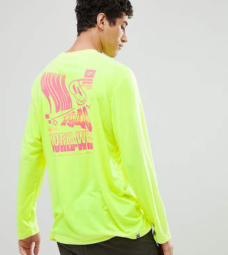 Puma Long Sleeve T-Shirt With Graphic Print In Yellow Exclusive To ASOS