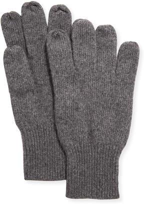 Portolano Men's Cashmere Jersey Gloves