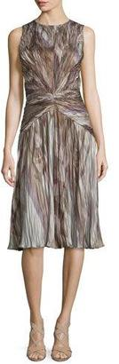 Ralph Lauren Collection Larisa Sleeveless Plisse Dress, Lilac/Multi $4,490 thestylecure.com