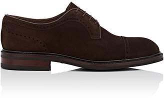 Carmina Shoemaker Men's Cap-Toe Suede Bluchers