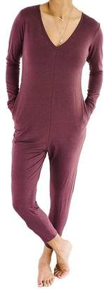Smash Wear + Tess + TESS THE FRIDAY ROMPER - MOD MAROON, M