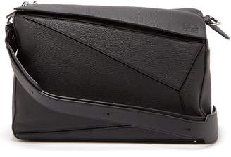 Loewe Puzzle Xl Grained Leather Bag - Mens - Black