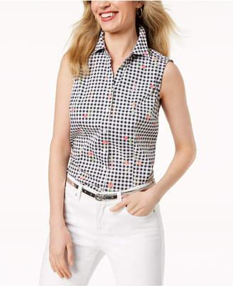 Charter Club Sleeveless Print Shirt, Created for Macy's