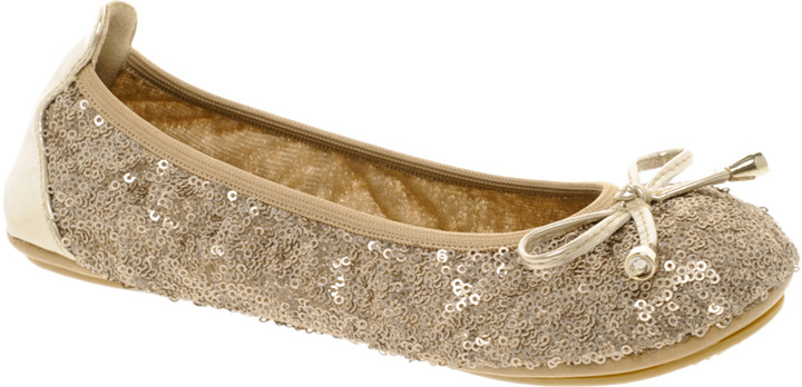 Dune Macie Sequin Fold Up Ballet Flats