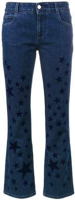 Stella McCartney kick flare star printed jeans