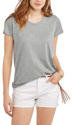POOF-Slinky Poof! Women's Short Sleeve Scoopneck T-Shirt With Contrast Back Insert