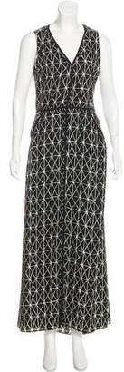 A.L.C. Sleeveless Abstract Print Maxi Dress