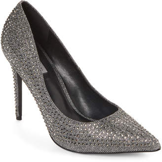 Steve Madden Anthracite Poet Metallic Pointed Toe Pumps