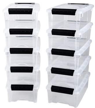 Iris 5.7 Qt. Plastic Storage Tote Pack