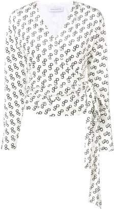 75553b6e87d97 Saks Potts logo print wrap sweater