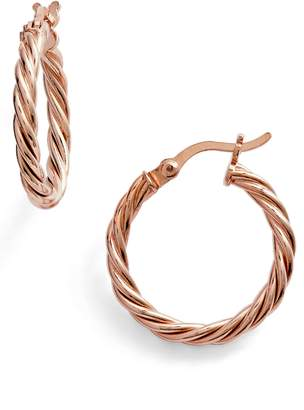 Argentovivo Rope Hoop Earrings