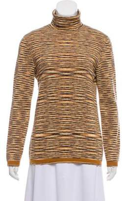 Missoni Long Sleeve Striped Turtleneck Sweater