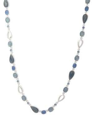 Anne Klein Faux Mother-Of-Pearl and Crystal Single-Strand Necklace