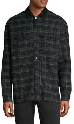 HUGO Emento Quilted Cotton Shirt Jacket
