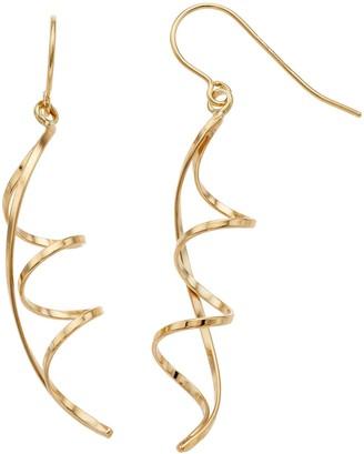 8f868e6ba Forever 14k Forever 14K Twisted Ribbon Drop Earrings