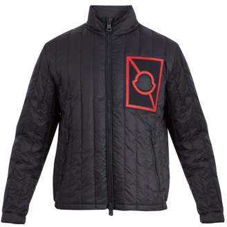 Craig Green Moncler Logo Embroidered Quilted Down Jacket - Mens - Navy Multi