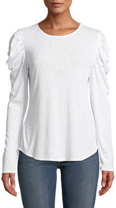 Rachel Roy Gemima Long-Sleeve Space-Dye Tee